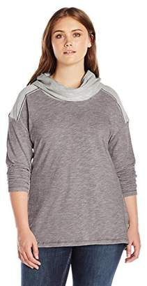 Columbia Women's Plus Size Easygoing Long Sleeve Cowl Sweater