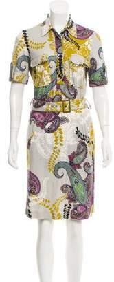 Etro Paisley Print Knee-Length Dress