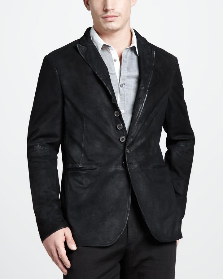 John Varvatos Distressed Suede Jacket