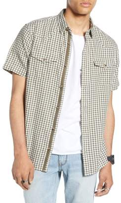 Treasure & Bond Regular Fit Gingham Western Shirt