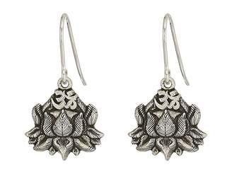 Alex and Ani Lotus Peace Petals Hook Earrings