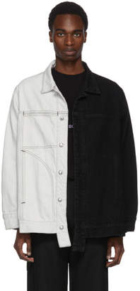 Eckhaus Latta Black and White Denim Jacket