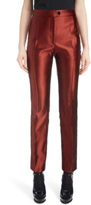 Dries Van Noten Slim Satin Crop Pants