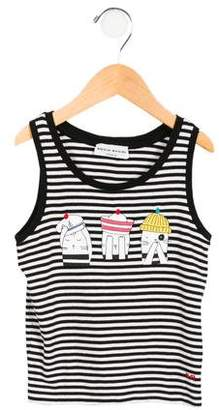 Sonia Rykiel Girls' Printed Striped Top