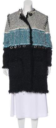 Lanvin Tweed Knee-Length Coat