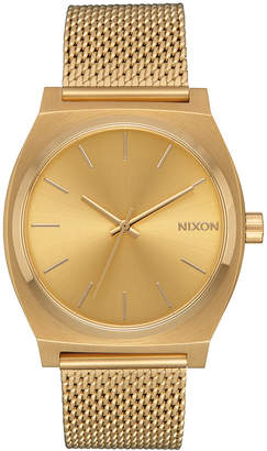 Nixon Women Time Teller Milanese Stainless Steel Bracelet Watch 37mm