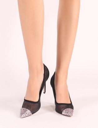 3751d30b0d4 Pink Glitter Court Shoes - ShopStyle UK