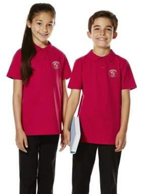 F&F Unisex Embroidered School Polo Shirt 7-8 yrs