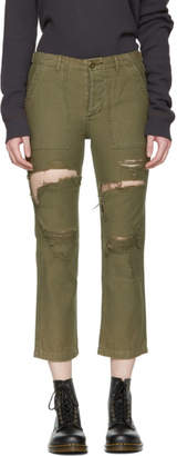 R 13 Green Bowie Utility Trousers