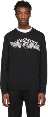 Alexander McQueen Black Fern Sweatshirt