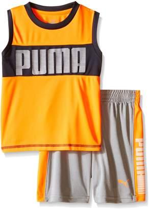 Puma Little Boys' Active Tank and Short Set