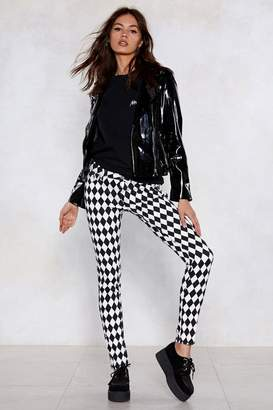 Nasty Gal Diamonds Are a Girls Best Friend Checkerboard Jeans