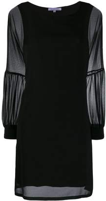 Patrizia Pepe sheer sleeves shift dress