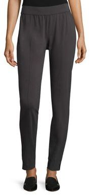 Eileen Fisher Jersey Slim Pants $118 thestylecure.com