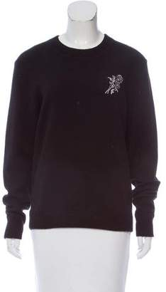 Frame Embroidered Crew Neck Sweater