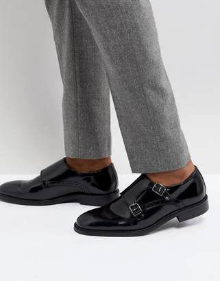 Dune Monk Shoes In Black Leather