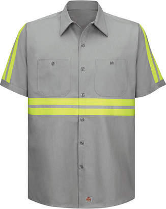 JCPenney Red Kap Short-Sleeve Visibility Shirt - Big & Tall