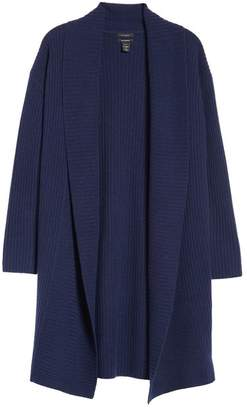 Halogen Long Ribbed Cashmere Cardigan (Regular & Petite)