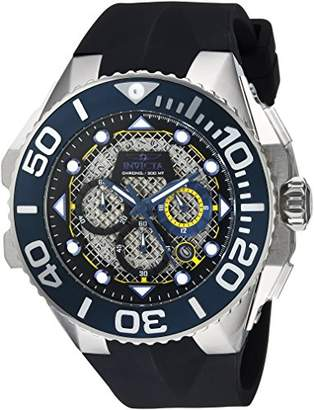 Invicta Men's 'Coalition Forces' Quartz Stainless Steel and Silicone Casual Watch