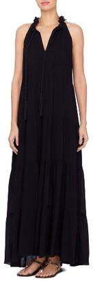 Women's Catherine Catherine Malandrino Wylie Fringe Trim Maxi Dress $128 thestylecure.com