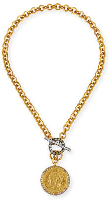 Elizabeth Cole Jordie Crystal-Toggle Necklace