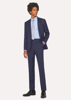 Paul Smith The Soho - Men's Tailored-Fit Dark Blue Wool 'A Suit To Travel In'