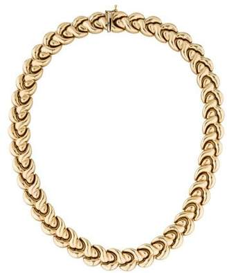 14K Chain-Link Collar Necklace