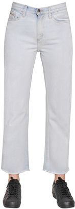 High Rise Straight Cropped Cotton Denim $120 thestylecure.com