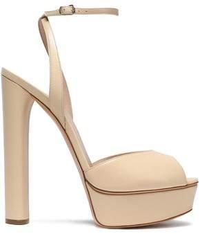 Casadei Leather Platform Sandals
