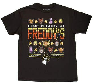 Novelty T-Shirts Boys Crew Neck Short Sleeve Five Nights at Freddys Graphic T-Shirt - Big Kid