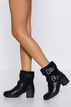 Nasty Gal Shut Your Strap Buckle Boot