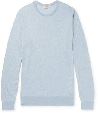 John Smedley Theon Slim-Fit Mélange Sea Island Cotton And Cashmere-Blend Sweater