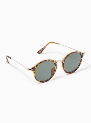 f46ad652c5f Topman Mens Brown Tortoiseshell Round Sunglasses