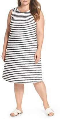 Caslon R R) Button Back Knit Dress (Plus Size)