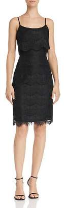 Nanette Lepore nanette Scalloped Lace Overlay Sheath Dress