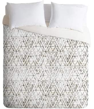 Deny Designs Neutral Holli Zollinger Rustic Diamond King 3-Piece Duvet Cover Set