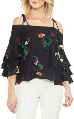 Vince Camuto Topic Heat Tie Strap Blouse