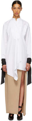 J.W.Anderson White Contrast Cuffs Blouse