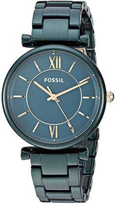 Fossil Women's 'Carlie' Quartz and Stainless-Steel-Plated Casual Watch