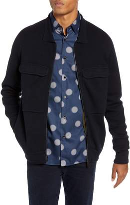 Ted Baker Akwa Slim Fit Zip Wool Blend Sweater