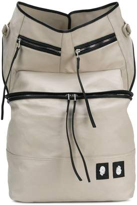 Rick Owens multi pocket backpack