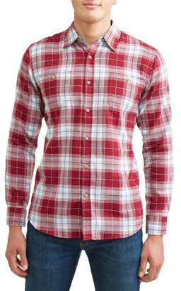 Lee Men's Long Sleeve Herringbone Plaid Woven, Available up to size 2XL