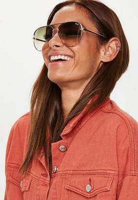 Missguided Quay Australia High Key Rose Gold Sunglasses
