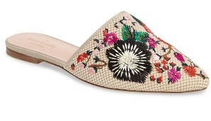 Women's Kate Spade New York Monteclair Embroidered Mule $238 thestylecure.com