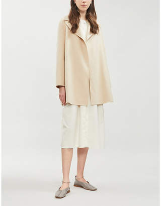 Theory Open-front wool and cashmere-blend coat