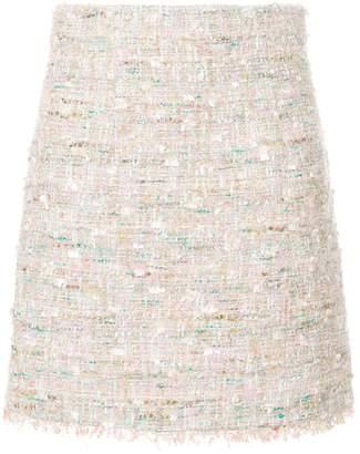 Blumarine tweed mini skirt