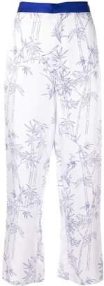 Shanghai Tang Pyjama Pants with Porcelain Bamboo Print