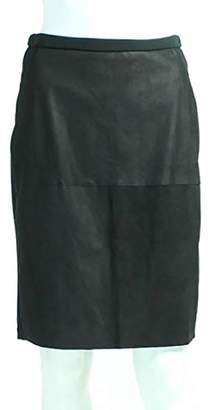 Heather Women's Leather Panel Pencil Skirt