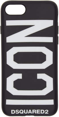 DSQUARED2 Black Icon Logo iPhone 8 Case