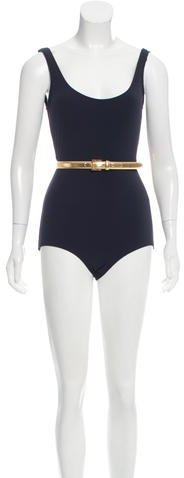 Michael Kors Belted One-Piece Swimsuit